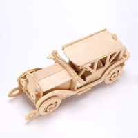 antique horse carriages - D Wooden Puzzle Jigsaw Antique Car Classic Car Horse Carriage Toy DIY Kit for Children and Adults Wooden Toys