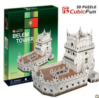 belem tower - DIY D Paper jigsaw Puzzle building Model children Eductional Toys christmas GiftS Famous Architecture Belem Tower