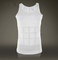Wholesale Piece Slimming Undershirt Vest Body Shaper Sliming Shirt For Men X1020