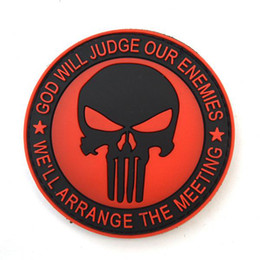 Wholesale 10pc Morale Velcro Patch Military Badges Rubber Pvc Punisher Swat Velcro Patch Patches