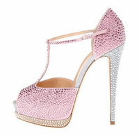 Where to Buy Shoes Womens High Heels Rhinestones Online? Where Can ...
