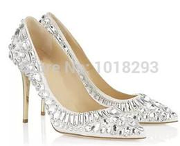 Discount Designer Wedding Shoes Crystals   2017 Designer Wedding ...