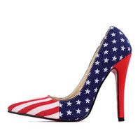 american flag shoes heels - high heels American flag pumps Hot pointed heels nightclub ultra popular sweet shoes women shoes dating Institute Photography