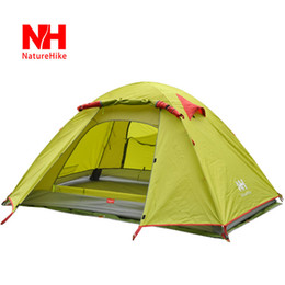 Wholesale-New Arrived 210*160*115 cm Double Layer 3-4 Person Outdoor Camping Hike Travel Tent - NatureHike