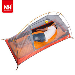 Wholesale-Free Shipping Limit of super light outdoor single ride silicone fabric super waterproof aluminum rod tent
