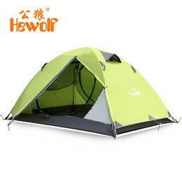 Wholesale-Tent outdoor camping double layer aluminum rod water-resistant 2 field