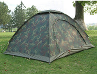 Wholesale Camouflage Camping Tent People Outdoor Hiking Tourist Tents Tienda Camping With Top Hook Waterproof Index mm