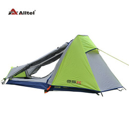 Wholesale-Gsx ultra-light camping outdoor double layer aluminum rod single tent outdoor hiking