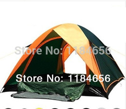 Wholesale High quality double layer person season aluminum rod outdoor camping tent go hiking fishing trekking
