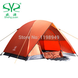 Wholesale New Style Outdoor Camping Tent Persons Double Layer Aluminum Rod Rainproof Windproof Tent k kg