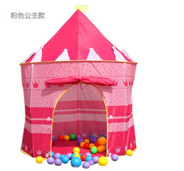 Wholesale-Quality Children Beach Tent, Baby Toy Play Game House, Kids Princess Prince Castle Indoor Outdoor Toys Tents Christmas Gifts 015