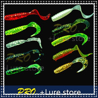 Wholesale cm soft plastic Grub fishing lures soft artificial pesca fishing lures circel tail grub for fishing tackle