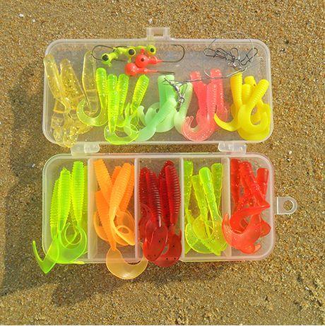 wholesale soft bait fishing lure set jig head soft plastic lure, Soft Baits