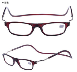 Wholesale Adjustable Front Connect Readers unisex magnetic reading glasses fashion men women s brand design reading eyeglasses