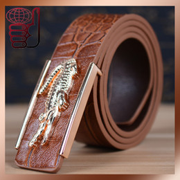 Femmes boucles de ceinture gros à vendre-Gros-Nouvelle Arrivée Livraison gratuite 2015 Mode PU Ceinture en cuir de crocodile boucle de ceinture ceinture marque pour hommes et femmes