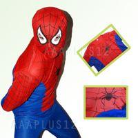 Wholesale Hot sale amp Kids Childrens Spiderman Outfit Halloween Fancy Dress Party Costume Y O S M L105 cm P11