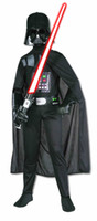 Wholesale Star Wars Darth Vader Standard Child Costume Child Gift for Birthday or Halloween Chiristmas Party