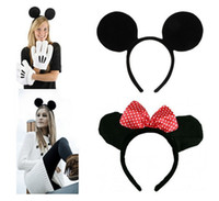 athletic headbands - Halloween Fancy Dress Up Costume Mickey and Minie Mouse Ears Headband Party Gift