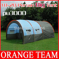 Wholesale DHL FeDEX Free family hunting camping tent person outdoor tents cm tunnel tent Hall room party pinic