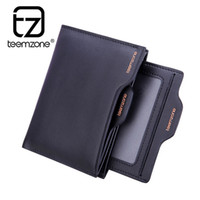 bifold windows - Real Leather Men s Wallet Bifold Money Clip Card Receipt Holder ID Window Driving License Pocket purse