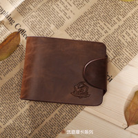 name brand purses - men s short wallet Brand name genuine Leather Wallet for men Gent Leather purses hot fashion