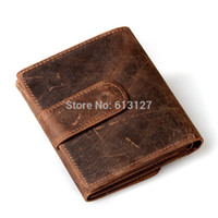 name brand purses - Brand name genuine Leather Wallet for men Gent Leather purses vintage wallet bag clutch hot fashion