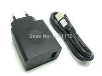 Cheap Wholesale-Original Charger Adapter For Lenovo P780 K900 K910 K920 + Genuine USB Cable EU   US Plug 5.2V~2.0A Quick Charging