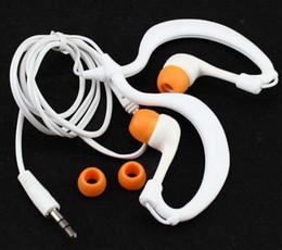 Promotion le sport pc Gros-Nouvelle 3,5 mm étanche pour casque crochet d'oreille casque Natation Sport écouteurs oreille téléphone Earclip casque pour MP3 MP4 PC
