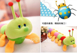 Wholesale Fee shipping cm Colorful caterpillars millennium bug doll plush toys large caterpillar hold pillow doll