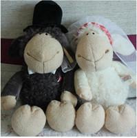 nici - NICI couple sheeps pair ovelha pelucia wedding plush toy soft sheep toy gift