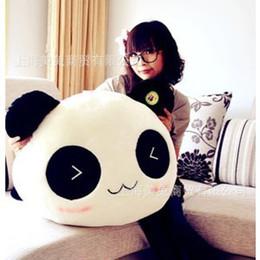 Promotion oreillers panda en peluche Gros-45cm panda géant oreillers Mini Plush Toys peluche Toy Doll Oreiller en peluche Bolster Day cadeaux Kids Doll Oreiller Valentine