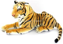Wholesale Emulational Plush Toy Tiger Animal Brown amp White quot PC