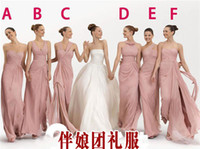 Cheap Wholesale-2015 Cheap Long Chiffon Blush Pink Bridesmaid Dresses prom to wedding party dress over under 50 for bridesmaids maid of honor