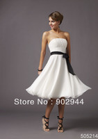 Cheap Wholesale-short coral tea length country style white royal blue black white pink yellow grey peach lime green turquoise bridesmaid dresses