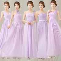 Cheap Wholesale-Cheap Bridesmaid Dresses Under 50 Light Purple Bridesmaid Dress Dreamlike Dress For Wedding Party Long Greek Goddess Dress