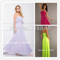 Cheap Wholesale-New arrival A-line sweetheart elegant fuchsia lavender lime green off-shoulder cheap bridesmaid dresses 2015