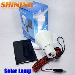 Wholesale-Economic 3W Solar Panel LED Lamp With Build-in Li-ion Solar Home Travel Camping Emergency Lamp Light Lantern For Outdoor Indoor