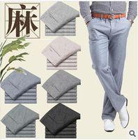 linen pants - Men linen Casual pants Stretch Flax cotton casual trousers colors