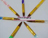 Cheap Wholesale-#8 Acrylic Nail art pen  nail art designed painting pen  Uv gel brush  wholesale