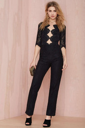 Wholesale- New Arrival For Love and Lemons Noir Lace Jumpsuit Similar