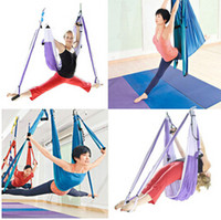 Cheap Wholesale-Feel shopping  Aerial Yoga Hammock Swing Sling Trapeze Hammock Aerial Yoga Swing Deluxe Aerial