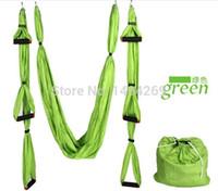 Cheap Wholesale-Hot Selling random color Aerial Yoga Hammock Large Bearing Yoga Swing Sling Hammock Trapeze For Yoga Inversion Tool
