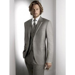 Custom Made New Style Men Wedding Prom Clothing Groom Tuxedos Wear Bridegroom Suit (Jacket+Pants+Tie+Vest) C699