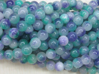 Wholesale hot beads jewelry making lovely mm Multicolor Blue Round the jade loose Rose beads quot YE00020 stone beads