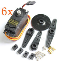 Cheap Wholesale-6pcs  lot Towerpro MG995 Digital Servo Motor Metal Gear High Speed Torque 12kg Bearing for RC Car Boat HPI Savage XL