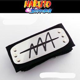 Wholesale-Anime naruto headband Leaf Village Logo Konoha Uchiha Itachi Kakashi Akatsuki Members cosplay costume Accessories Free shipping