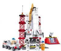 Wholesale Ausini Space Shuttle Launching Base Building Blocks Hot Toy Educational Assembling Blocks Toy for Children Model Building Gift