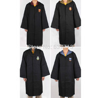 Wholesale Harry Potter Gryffindor Slytherin Hufflepuff Ravenclaw Cosplay Costume Kids Adult Cloak Robe Cape Halloween Gift Size