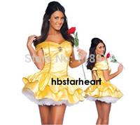 belle outfit - 2015 New Adult Womens Sexy Halloween Party Princess Belle Costumes Outfit Fancy Maid Cosplay Dresses