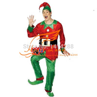 Wholesale Brand New halloween party Cosplay adult Men Women green elf costume Santa Elf clown costume Christmas Party D